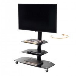 Runner carrello porta TV con staffa rotante di 180°