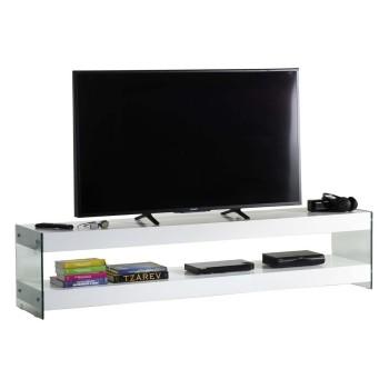 Clubber mobile porta TV design moderno in legno e vetro