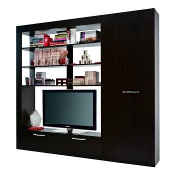 Mobile tv soggiorno Carre con armadio e libreria