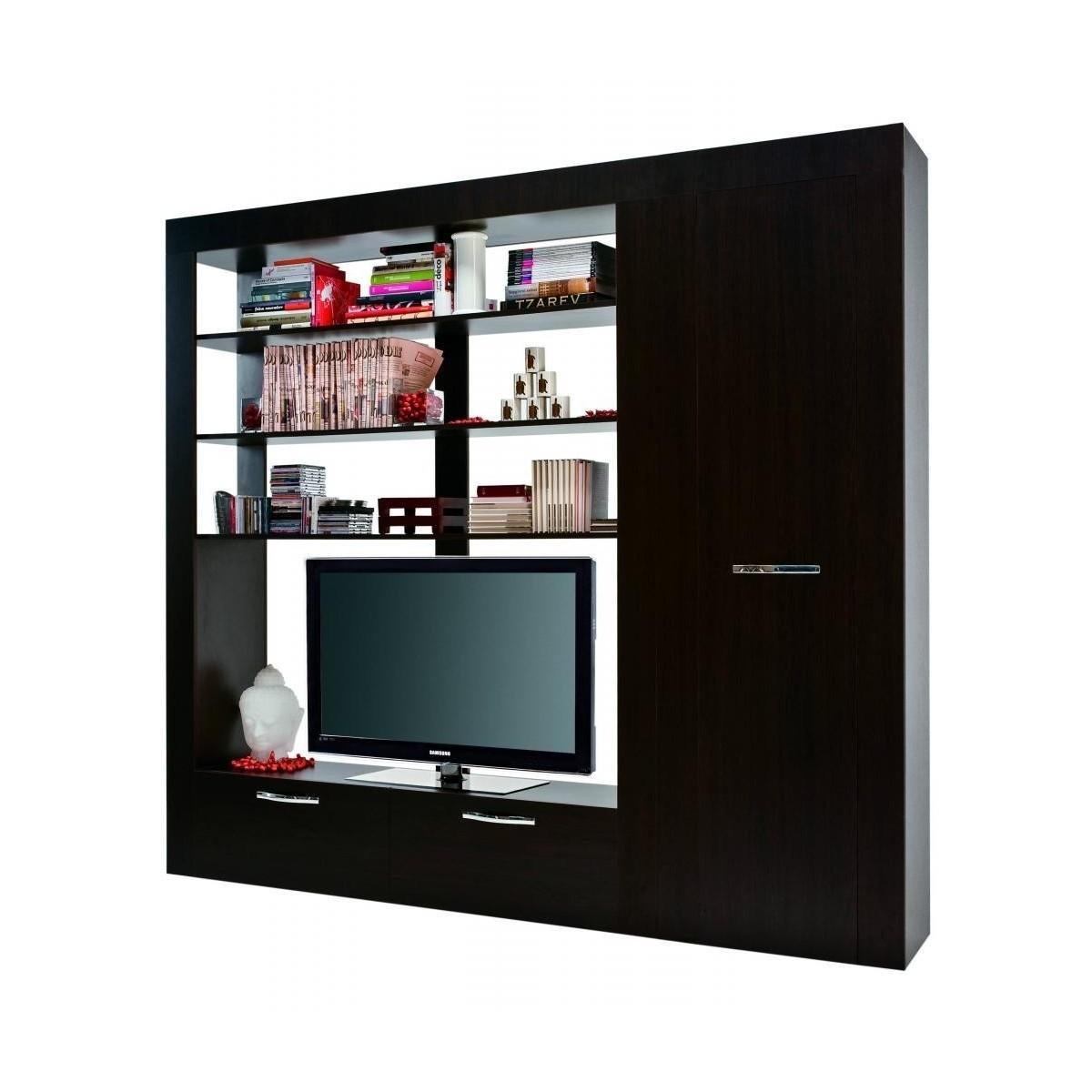 Mobile tv soggiorno con armadio e libreria carre for Armadio da soggiorno