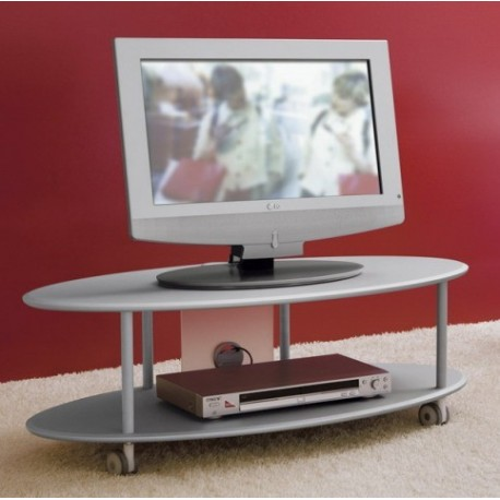 Carrello porta TV in legno MDF design moderno Elliptical