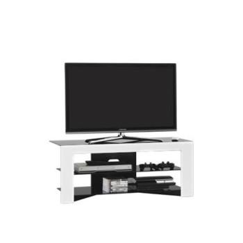 Mobile porta televisore moderno in legno e cristallo Trix