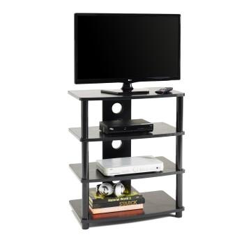 Mobile porta televisore con passacavi in legno MDF e metallo Style