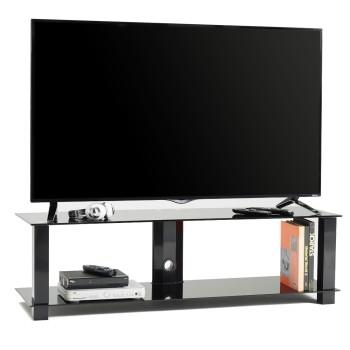 Mobile porta televisore moderno in metallo e vetro 140 cm Jenson