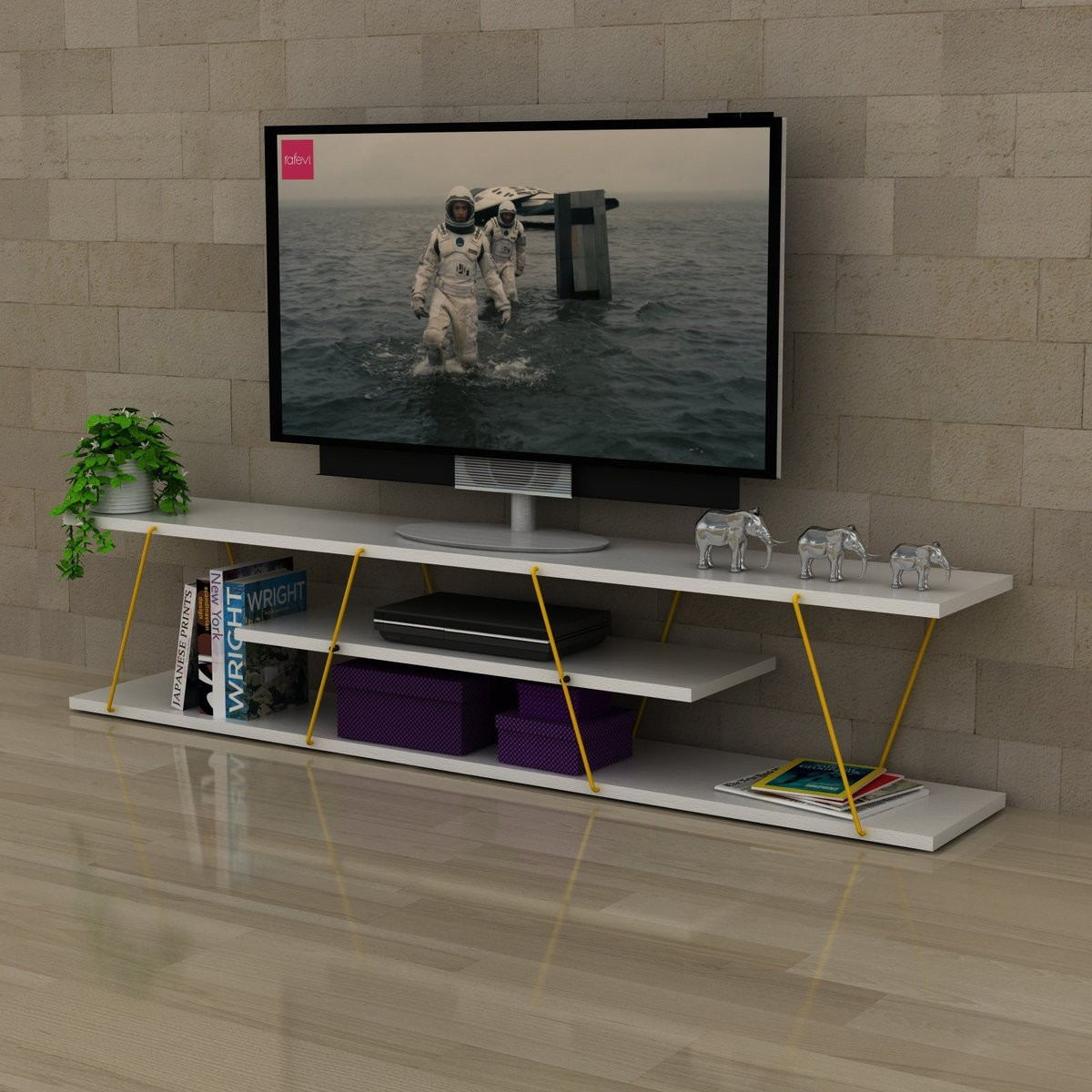 Mobiletto per televisione design moderno 140 cm unity for Mobiletto design