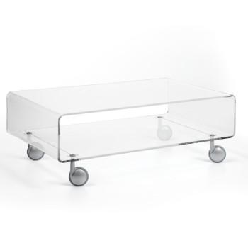 Carrello tavolino Andy 2 in plexiglass per soggiorno