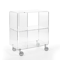 Carrello Andy 5 in metacrilato design moderno H 75