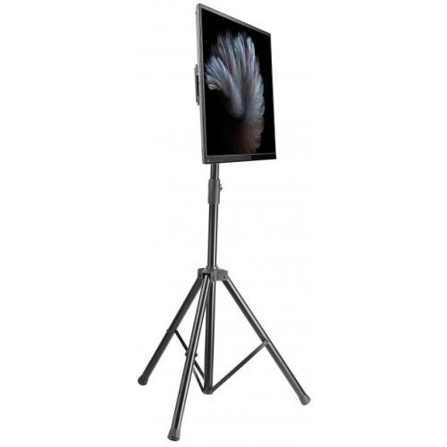 Treppiedi porta TV portatile girevole e regolabile in altezza Morris6