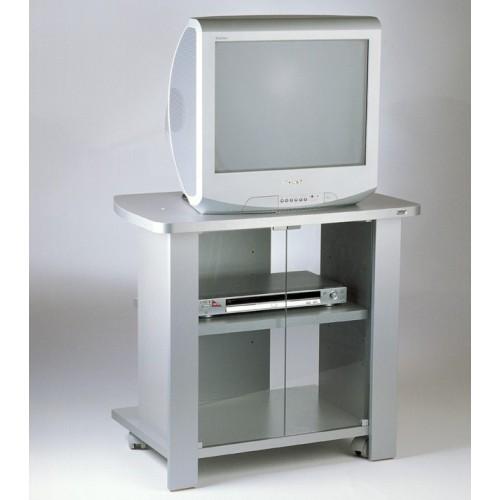 Mobile tv con ruote in legno melaminico Kleo 74 Silver