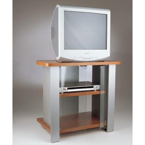 Carrello porta televisore con ruote in legno Kleo 74 Ciliegio