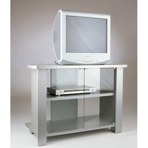 Kleo 96 Silver mobile tv con ruote in legno melaminico
