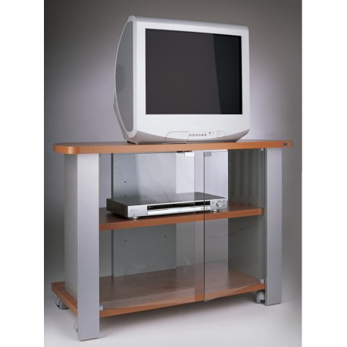 Carrello porta televisore in legno con ruote Kleo 96 Ciliegio