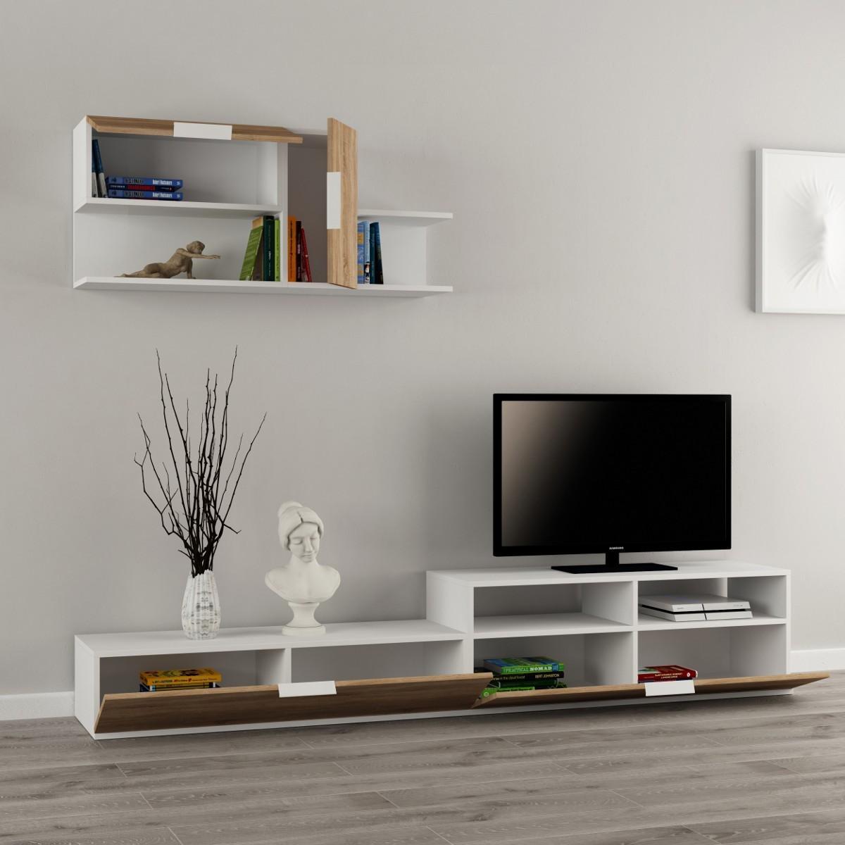 Adair parete attrezzata in legno melaminico design moderno