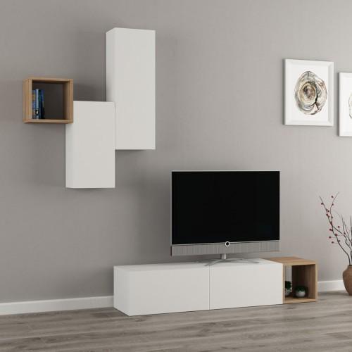 Blayne parete attrezzata stile moderno in legno spessore 18mm