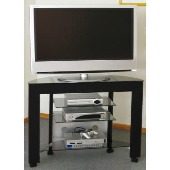 Carrellino TV LCD/LED in alluminio e vetro 100 cm Clapton