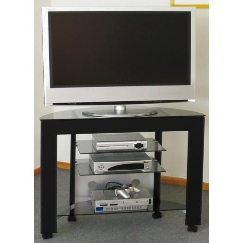 Carrellino TV LCD/LED in alluminio e vetro 100 cm Delta