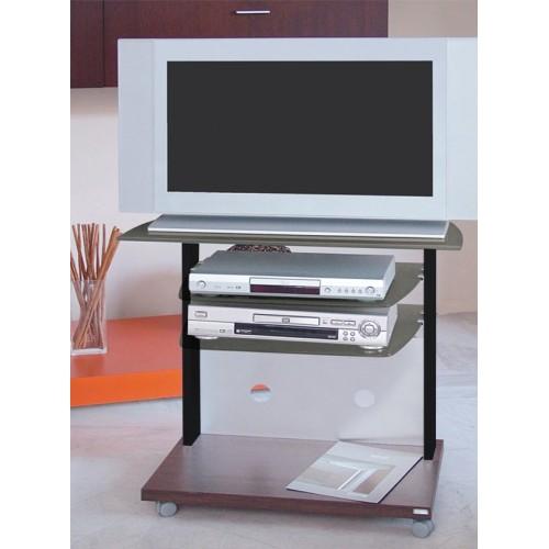 Flash 70 nero fumè carrello per TV in melaminico alluminio e cristallo 70 cm