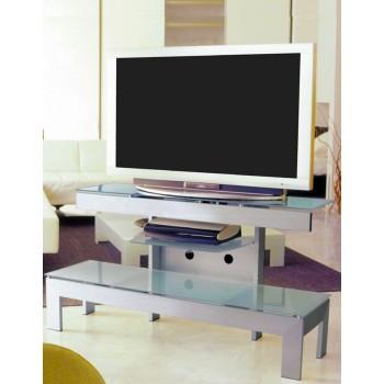 Mobiletto TV design moderno con 3 ripiani 130 cm Wilbur