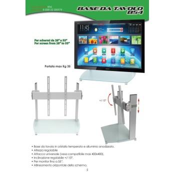 Base da tavolo per schermi da 28 a 55 pollici B54