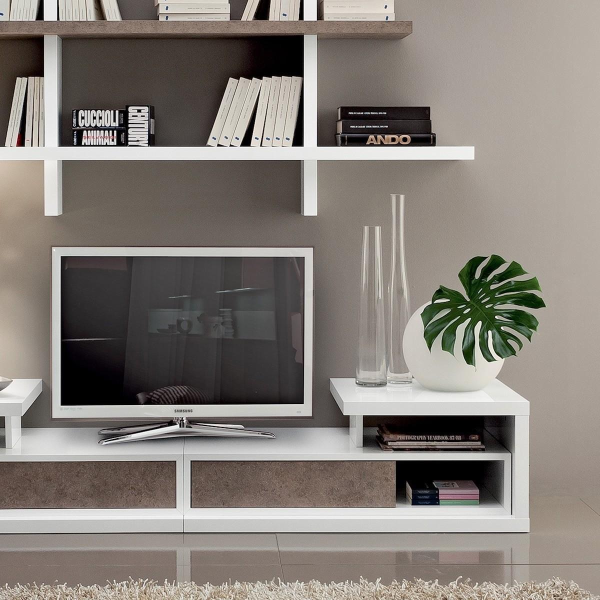 Mobile porta tv da terra con mensole garnette4 - Porta tv da terra ...