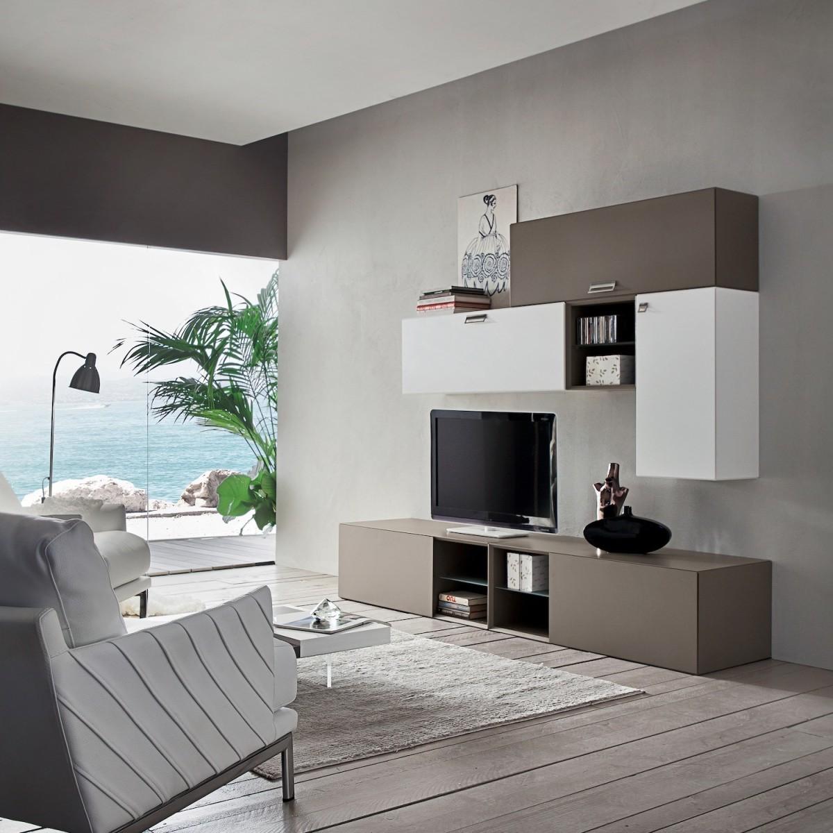 Mobili per soggiorno moderno in legno marko for Mobili per soggiorno