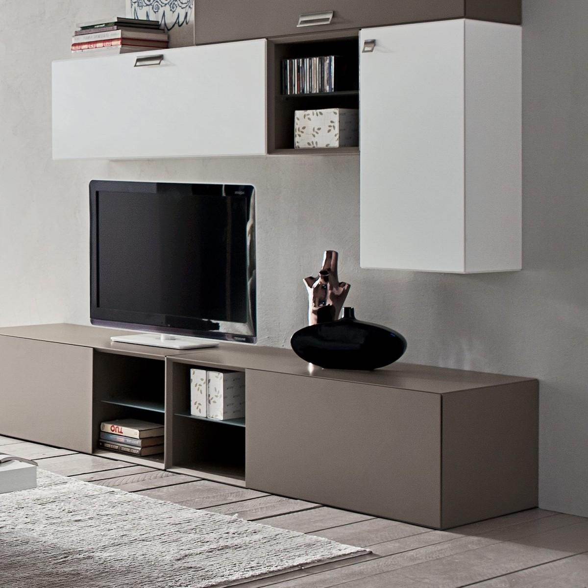 Mobili per soggiorno moderno in legno Marko