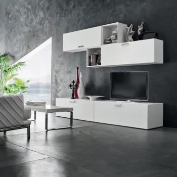 Mobili da soggiorno per tv moderni in legno Otto