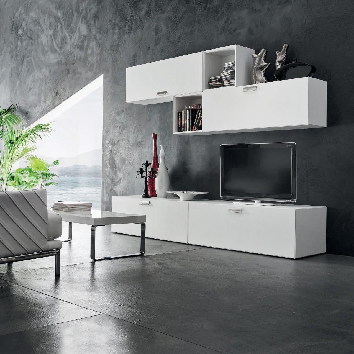 Mobili da soggiorno per tv moderni otto for Mobili moderni