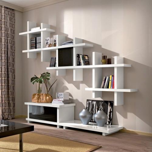 Parete attrezzata moderna per tv soggiorno design Santeri