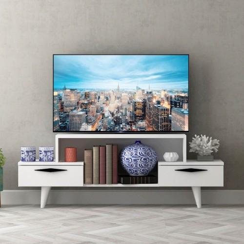 Mobiletto porta tv bianco per soggiorno Adel
