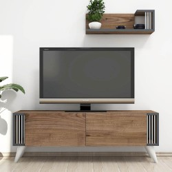 Mobiletto porta tv design moderno in legno Lucas