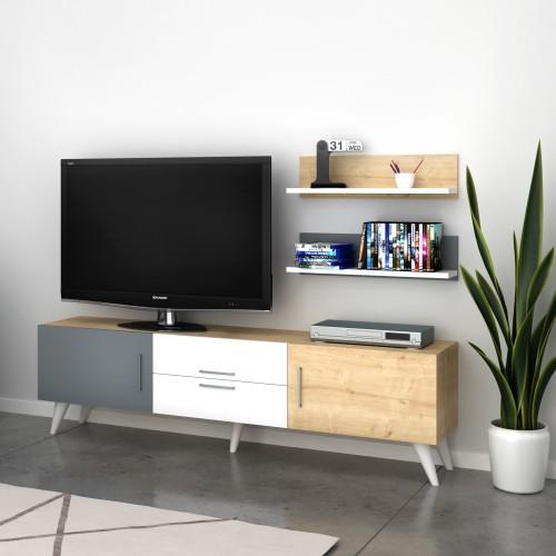 Mobile per televisore design moderno con mensole Jared