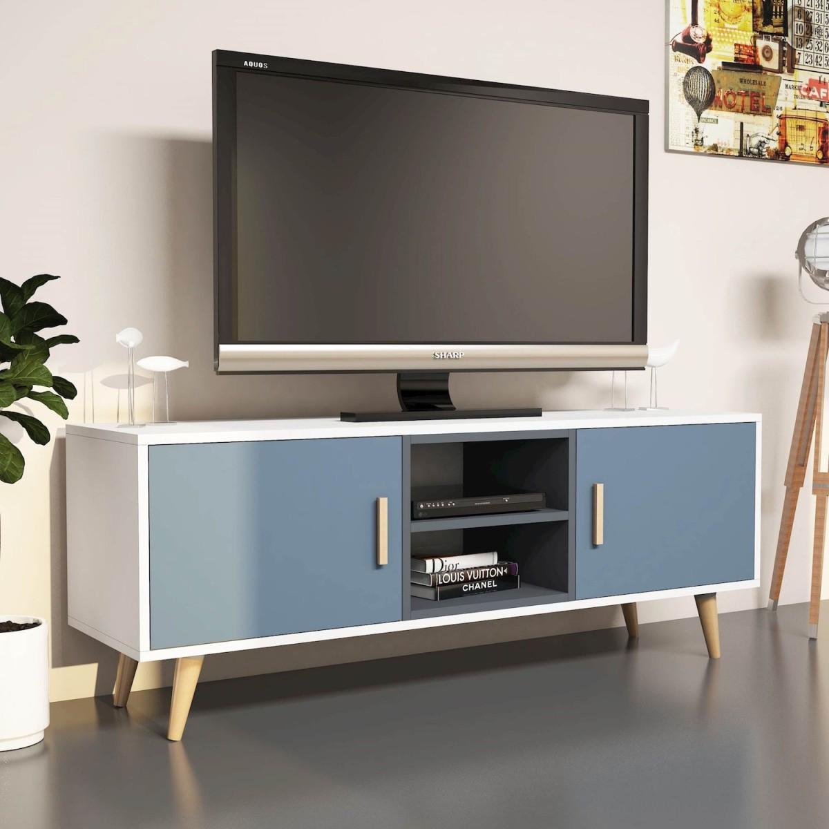 Mobile per televisore moderno design nordico darius for Pareti tv moderne
