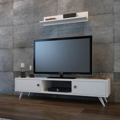 Mobile porta TV design moderno con mensola a parete Denolm