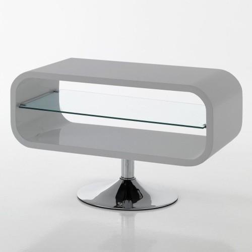 Mobile porta TV in legno MDF lucido Sibilla bianco o grigio