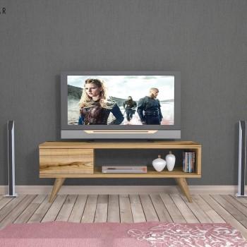 Mobile tv moderno in legno noce per camera letto Buster