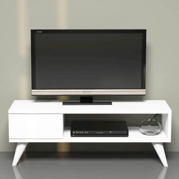Mobiletto tv moderno per soggiorno 90 cm in legno Buster