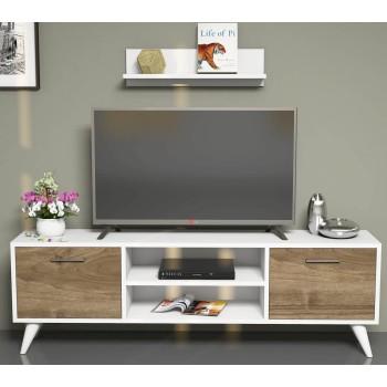 Mobile porta TV soggiorno con mensola a parete Dexter