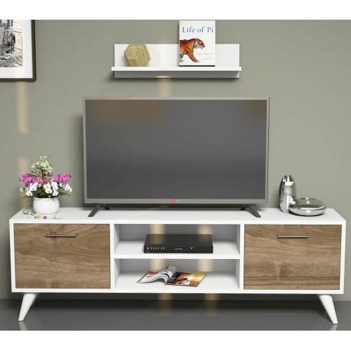 Mobile porta tv soggiorno con mensola dexter for Salotto con tv