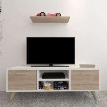 Porta TV design moderno con ripiano a parete Dexter