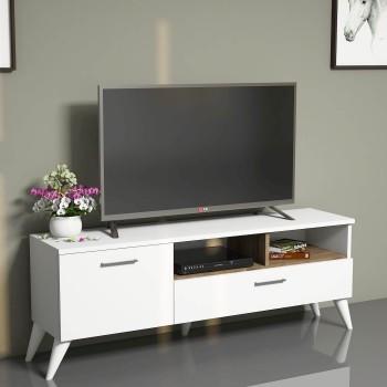 Mobiletto TV moderno per soggiorno in legno 120 cm Fulton