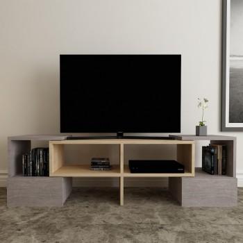 Porta TV angolare design in legno 140 cm Harrison