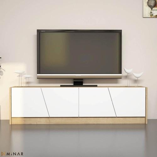 Mobile TV moderno per soggiorno 150 cm in legno Heron