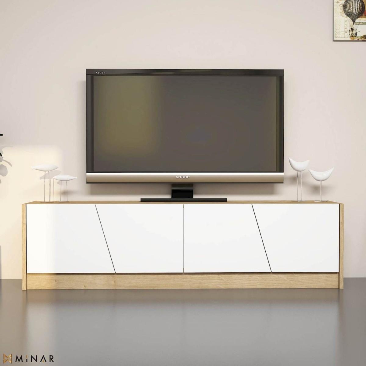 Mobile tv moderno per soggiorno 150 cm heron for Mobile per soggiorno moderno