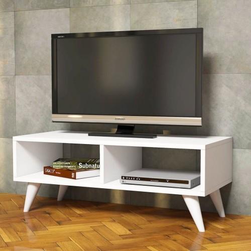 Mobile porta TV per soggiorno o camera bianco Jordon
