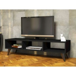 Mobile TV design per camera 120 cm in legno nero Jordon