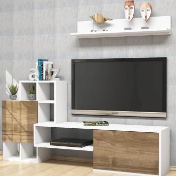 Mobiletto per televisore da soggiorno con mensola Kermit