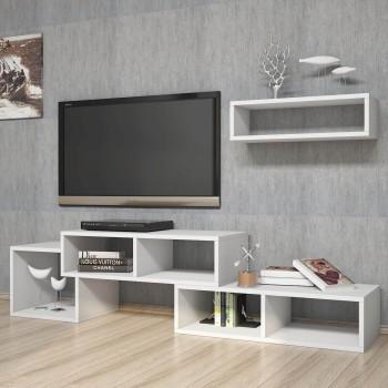 Mobile per televisione design con mensola Millard