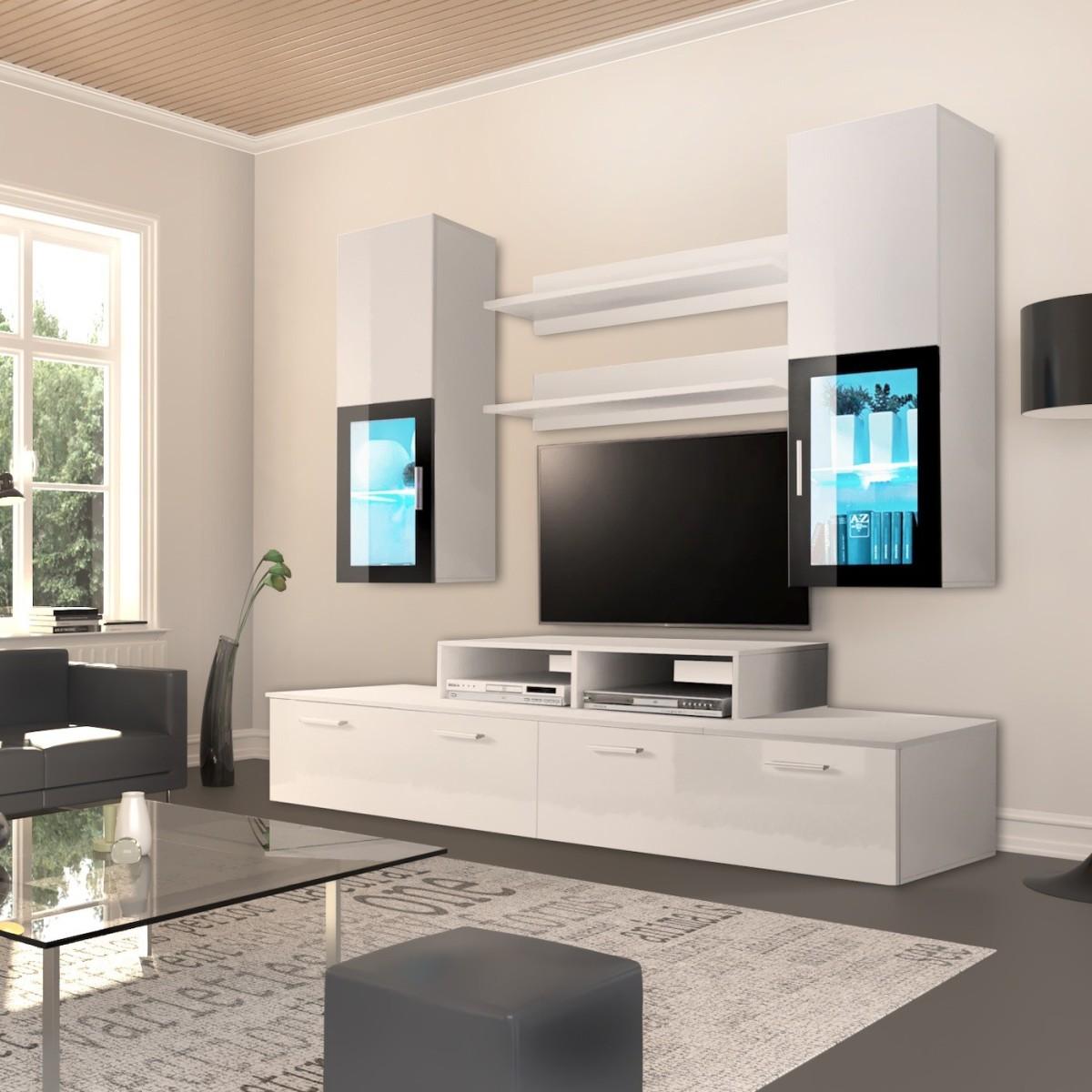Parete soggiorno design moderno Dana