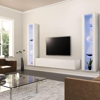 Mobili da soggiorno moderni per grandi televisori Cleveland